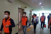 구례119안전센터, 물러가라 코로나, 구례 의용소방 방역활동에 앞장서..