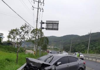 보성소방서, 차량사고 운전자 구조