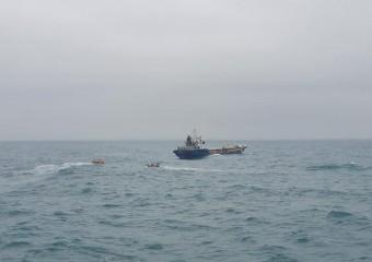 해양경찰교육원. 훈련함,실습 중 실제사고 초동대